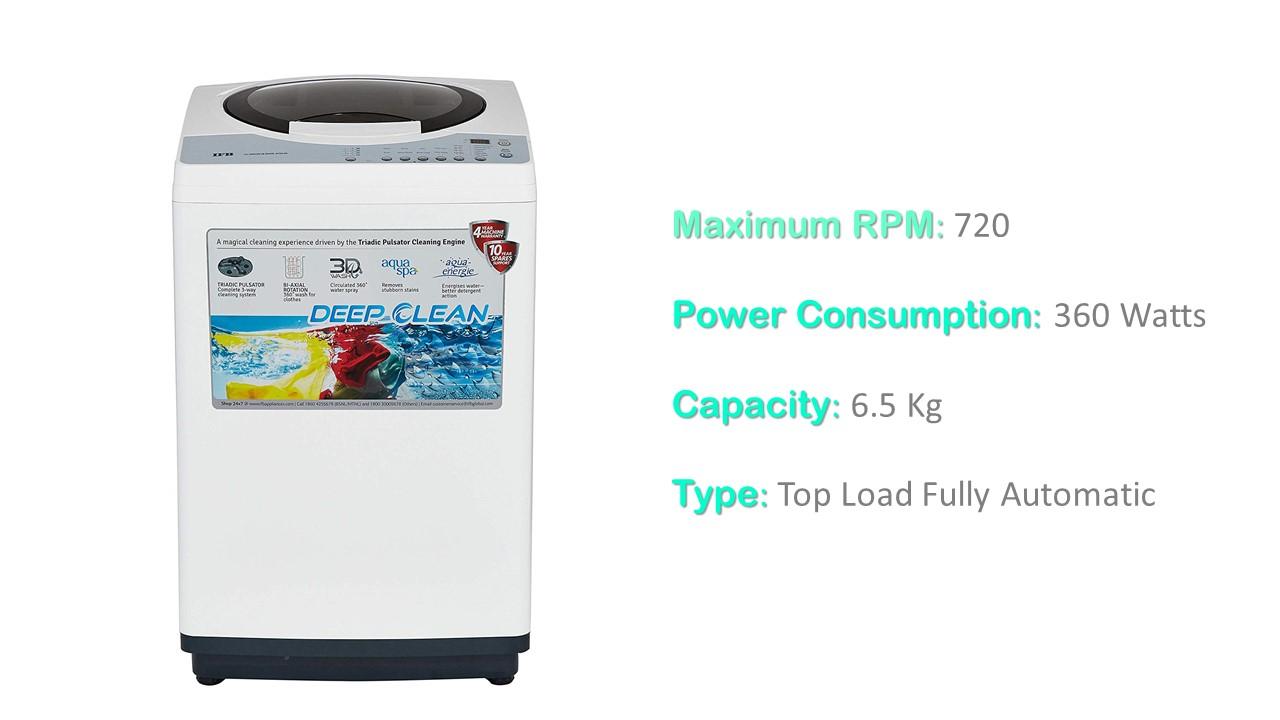 IFB 6.5 kg Fully-Automatic Top Loading Washing Machine