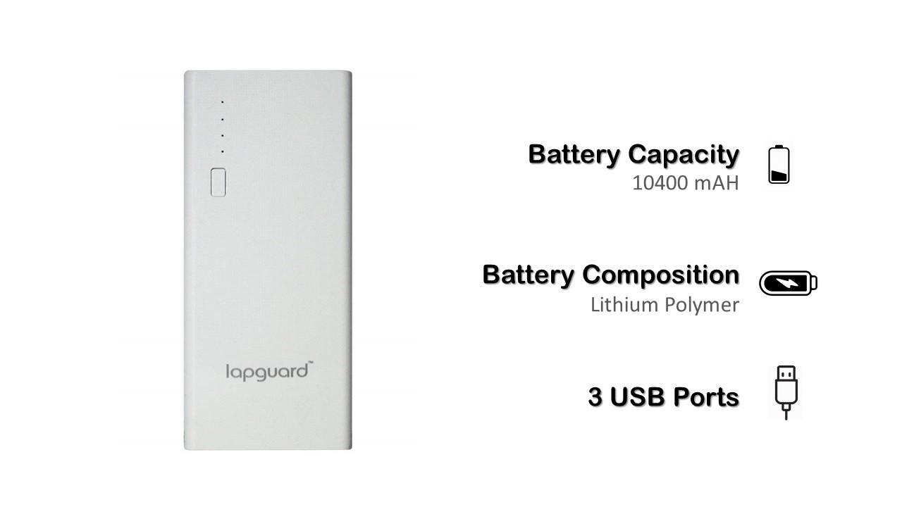 Lapguard LG514 10400mAH Lithium-Ion Power Bank